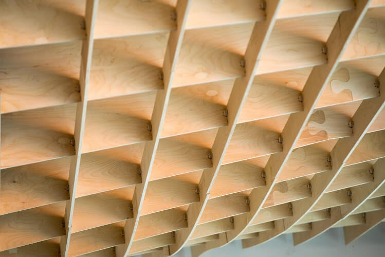 CNC cut Birch Plywood Sculptural feature, Designed by Wayward Architects