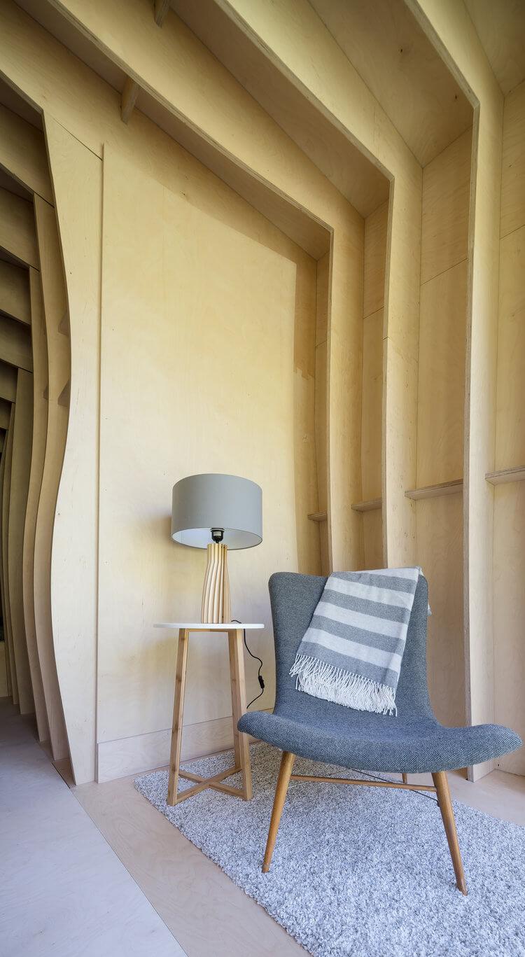 CNC cut Birch plywood interior