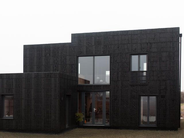 CNC cut Birch plywood interior of Box House, Studio Bark, Graven Hill, The Street